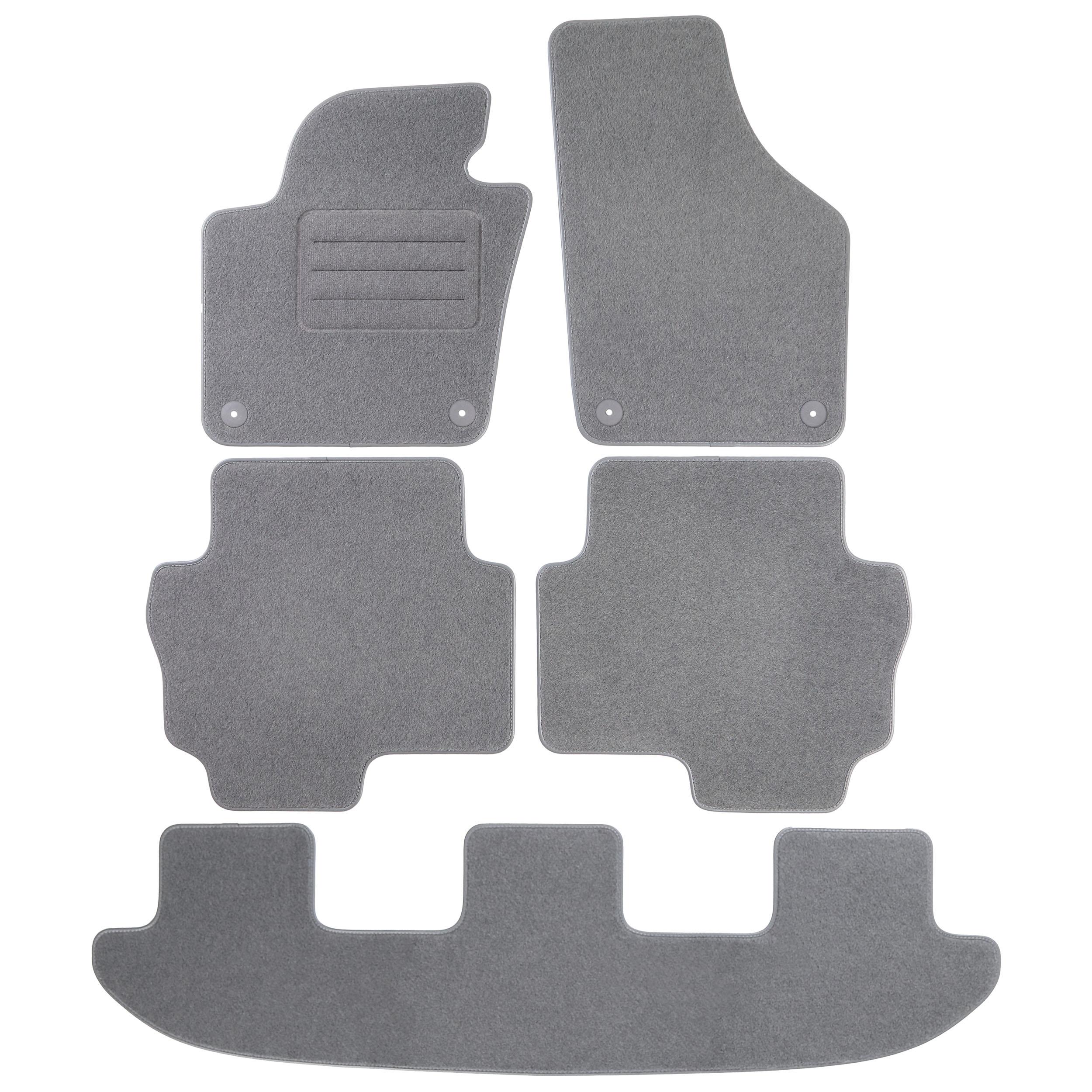 vw sharan ii 7 sitzer grau fu matten autoteppiche bj 2010. Black Bedroom Furniture Sets. Home Design Ideas